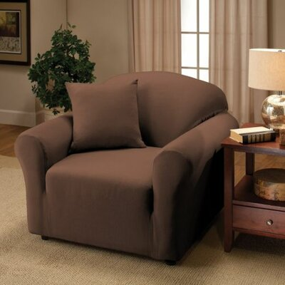 Jersey Chair Slipcover Upholstery: Chocolate