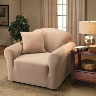 Jersey Chair Slipcover Upholstery: Linen