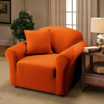 Jersey Chair Slipcover Upholstery: Orange