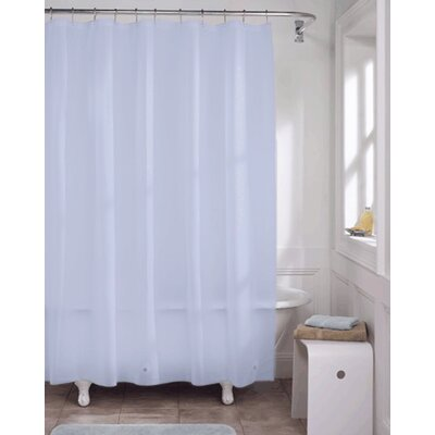 Vinyl Shower Curtain Liner Color: Blue