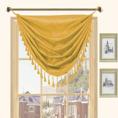 Kashi Home Holly Faux Silk Grommet Top Curtain Valance - Color: Mustard at Sears.com