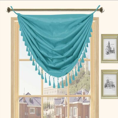 Kashi Home Holly Faux Silk Grommet Top Curtain Valance - Color: Blue at Sears.com