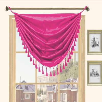 Kashi Home Holly Faux Silk Grommet Top Curtain Valance - Color: Fuchsia at Sears.com