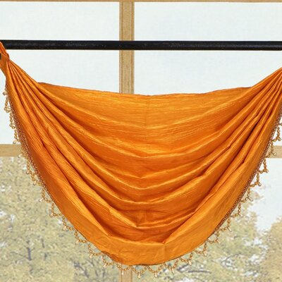 Kashi Home Sherry Crushed Satin Curtain Valance - Color: Orange at Sears.com