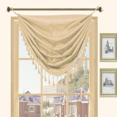 Kashi Home Holly Faux Silk Grommet Top Curtain Valance - Color: Honey at Sears.com