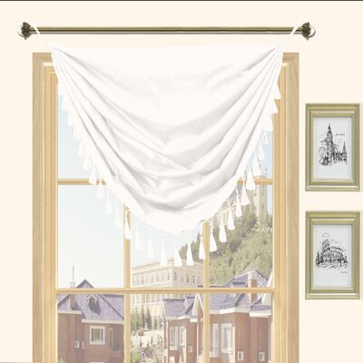 Kashi Home Holly Faux Silk Grommet Top Curtain Valance - Color: White at Sears.com