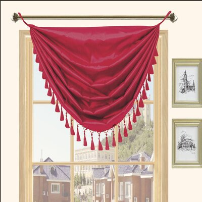 Kashi Home Holly Faux Silk Grommet Top Curtain Valance - Color: Cinnamon at Sears.com