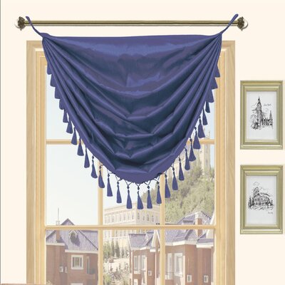 Kashi Home Holly Faux Silk Grommet Top Curtain Valance - Color: Navy at Sears.com