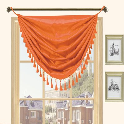 Kashi Home Holly Faux Silk Grommet Top Curtain Valance - Color: Orange at Sears.com