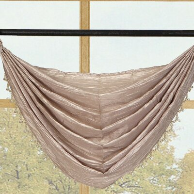 Kashi Home Sherry Crushed Satin Curtain Valance - Color: Honey at Sears.com