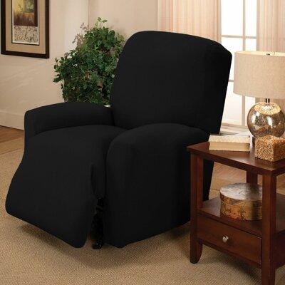 Jersey Recliner Slipcover Upholstery: Black