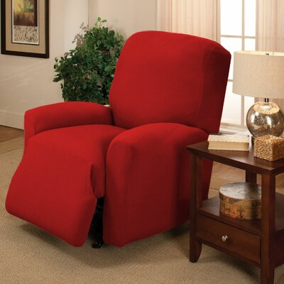 Jersey Recliner Slipcover Upholstery: Ruby