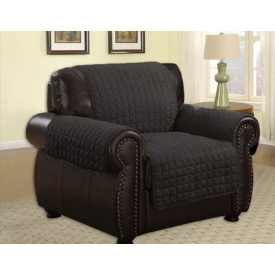 Microfiber Chair Furniture Protector Upholstery: Black