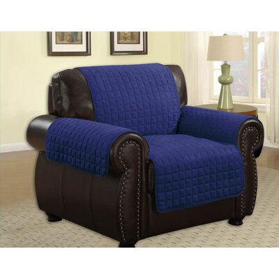 Pet Protector Box Cushion Armchair Slipcover Upholstery: Navy