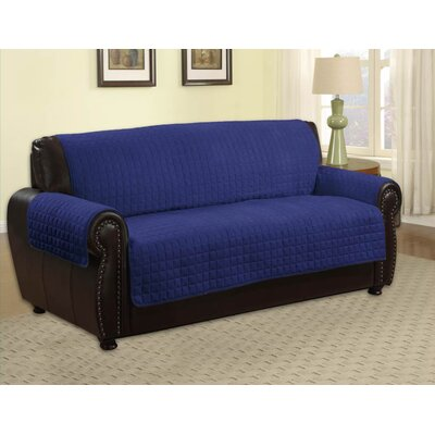Pet Protector Box Cushion Sofa Slipcover Upholstery: Navy