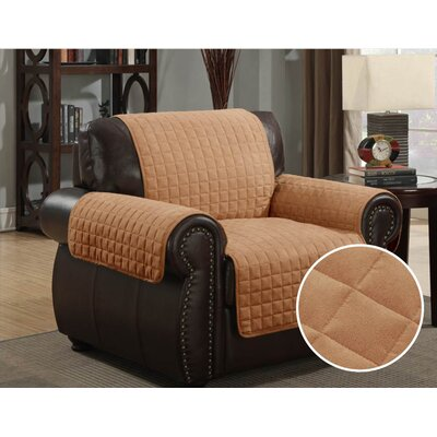 Pet Protector Box Cushion Armchair Slipcover Upholstery: Camel
