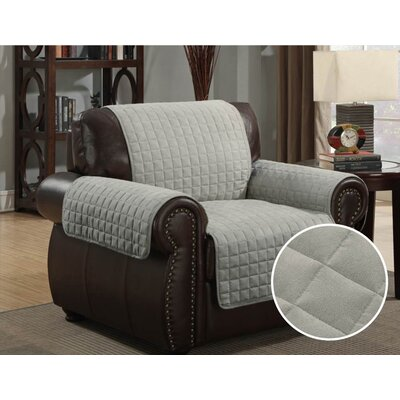 Pet Protector Box Cushion Armchair Slipcover Upholstery: Gray