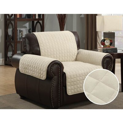 Pet Protector Box Cushion Armchair Slipcover Upholstery: Beige