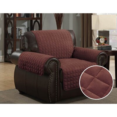 Pet Protector Box Cushion Armchair Slipcover Upholstery: Brown