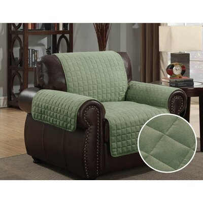 Pet Protector Box Cushion Armchair Slipcover Upholstery: Sage