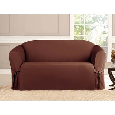 Loveseat Slipcover Upholstery: Brown