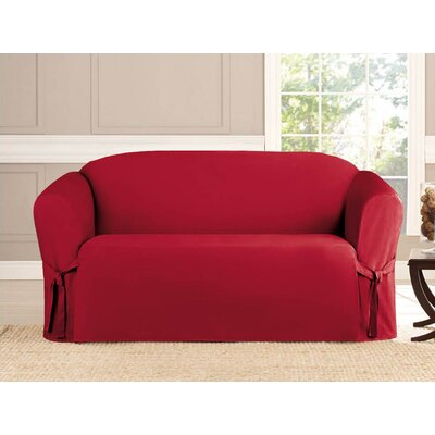 Loveseat Slipcover Upholstery: Ruby