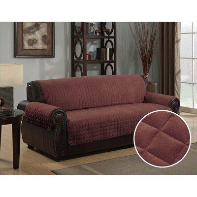 Box Cushion Sofa Slipcover Upholstery: Brown
