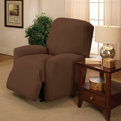 Jersey Recliner Slipcover Upholstery: Chocolate