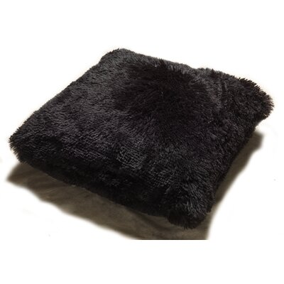 Lakisha Fur Throw Pillow Color: Black
