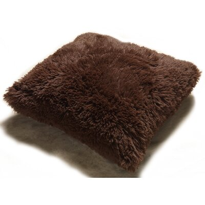 Pv Fur Throw Pillow Color: Chocolate