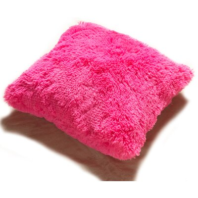 Lakisha Fur Throw Pillow Color: Fuchsia