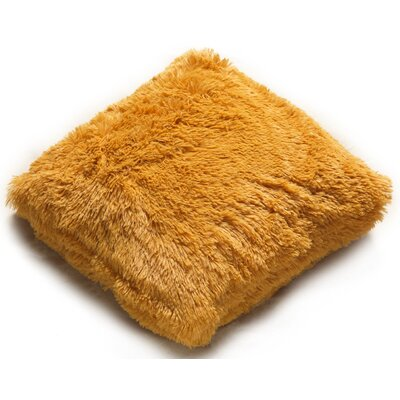 PV Fur Decorative Throw Pillow Color: Gold