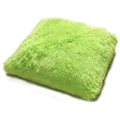Pv Fur Throw Pillow Color: Lime