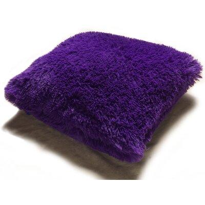Lakisha Fur Throw Pillow Color: Purple