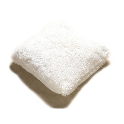 PV Fur Decorative Throw Pillow Color: Beige