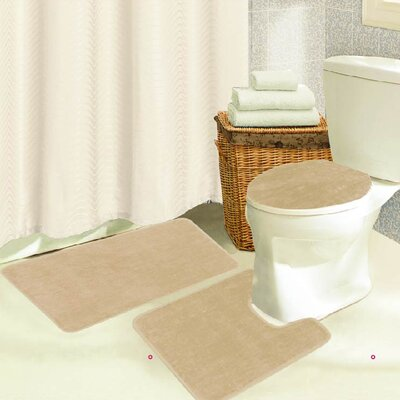 Brandy 3 Piece Bath Rug Set Color: Beige