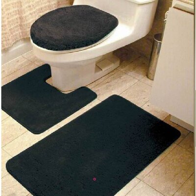Brandy 3 Piece Bath Rug Set Color: Black
