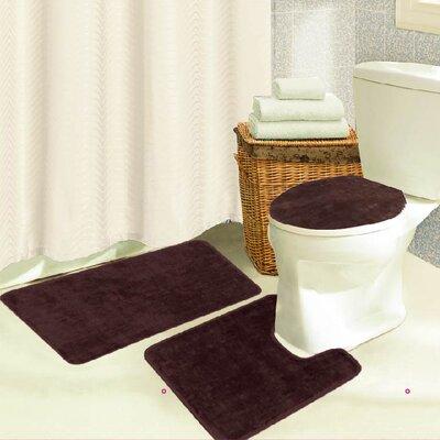 Brandy 3 Piece Bath Rug Set Color: Chocolate
