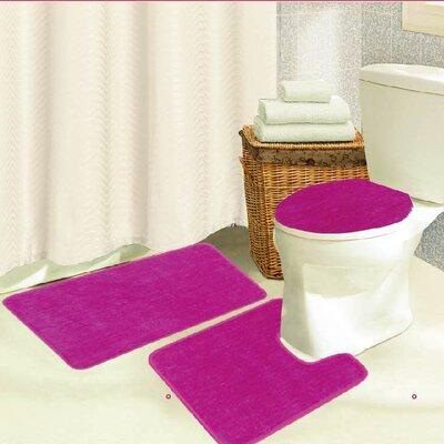 Brandy 3 Piece Bath Rug Set Color: Pink