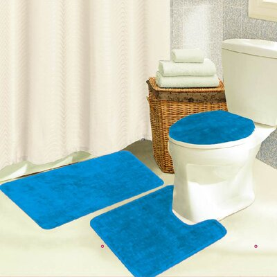 Brandy 3 Piece Bath Rug Set Color: Blue