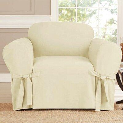 Polyester Armchair Slipcover Upholstery: Beige