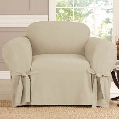 Polyester Armchair Slipcover Upholstery: Taupe