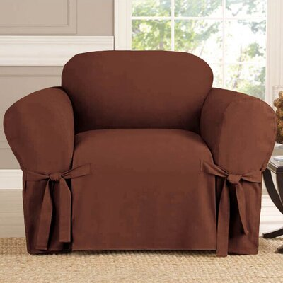 Polyester Armchair Slipcover Upholstery: Brown