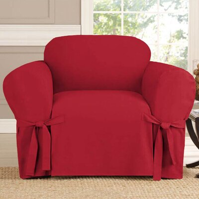 Polyester Armchair Slipcover Upholstery: Ruby