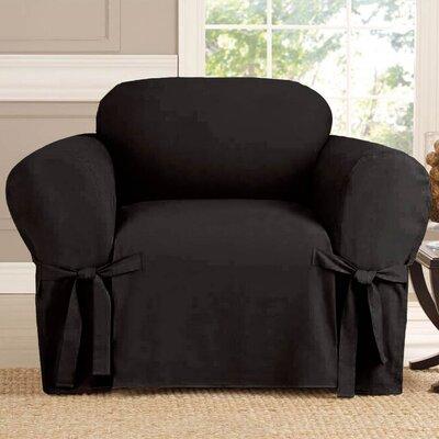 Polyester Armchair Slipcover Upholstery: Black