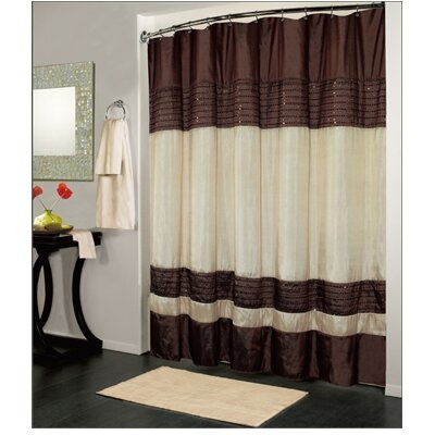 Ibiza Shower Curtain Color: Brown / Ivory