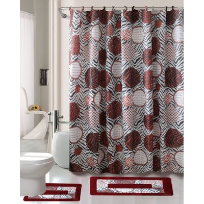 Madrid Printed Shower Curtain Set