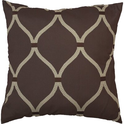Celine Throw Pillow Color: Chocolate