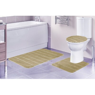 Louise 3 Piece Rug Set Color: Beige