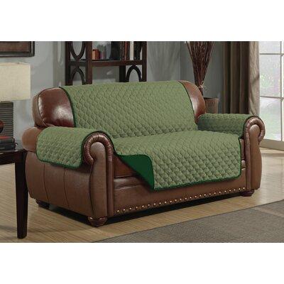Loveseat Slipcover Upholstery: Sage/Hunter Green